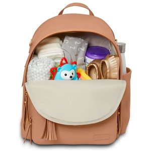 Skip Hop Greenwich | Tan Backpack Diaper Bag